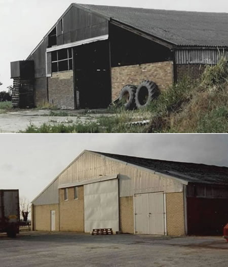 Grainstore 1991 Before and After